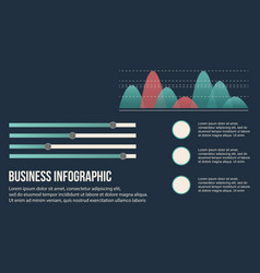 Business infographic background graphic and data vector