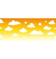 Cartoon sky background vector