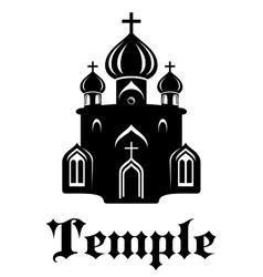 Christian temple or church vector