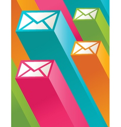 Colorful 3d email icons vector