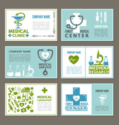 different cards with designs template at theme of vector image