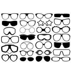 Different Eyeglasses Isolated vector image