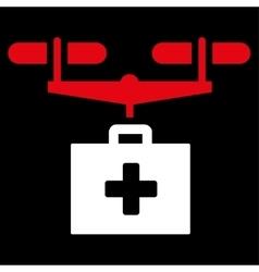 Drug Drone Delivery Icon vector image vector image