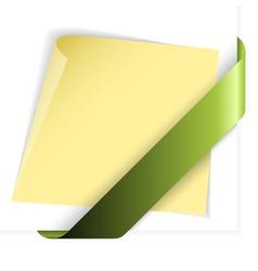 empty green corner vector image vector image