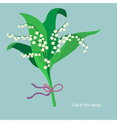 Flat design Lily of the valley vector image vector image