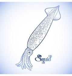 Graphic squid vector