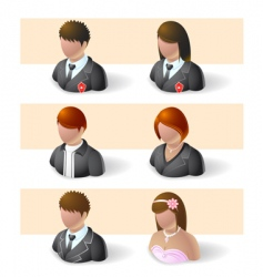 heads and shoulders vector image vector image
