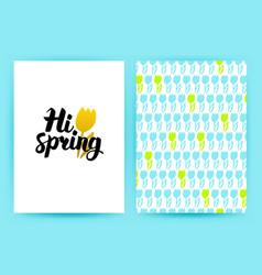 Hi spring trendy poster vector