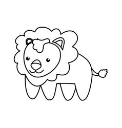 lion infantile cartoon animal vector image