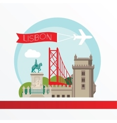 Lisbon detailed silhouette Trendy vector image vector image