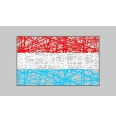 Luxembourg flag design concept vector image vector image