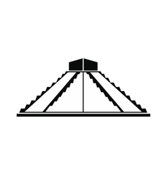 Mayan pyramid in yucatan mexico icon vector