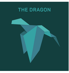 origami dragon animals flat vector image