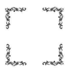 Ornamental border insignia vector