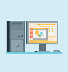 personal computer flat vector image vector image