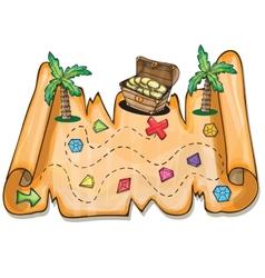 Pirate treasure chest - vector
