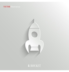 Rocket icon - web background vector