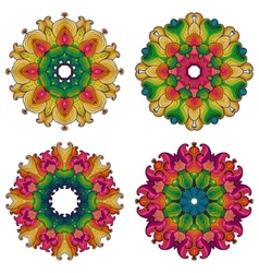 Set of four mandalas vector