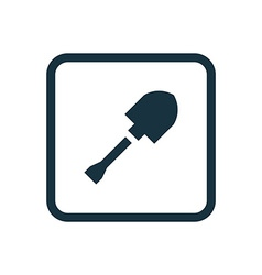 shovel icon Rounded squares button vector image
