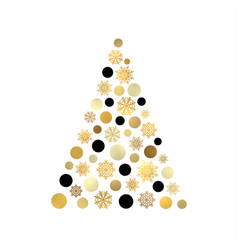 Stylized christmas tree isolated on white backdrop vector