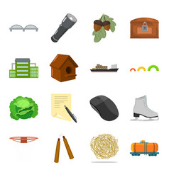 Vegetable education transport and other web icon vector