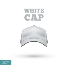 White Cap isolated on white vector image