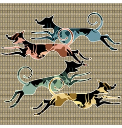 running animals vector image