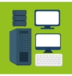 Computer equipment supply icons graphic vector