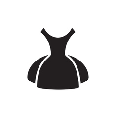 Dress icon isolated vector