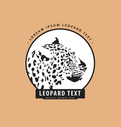 stylish logo with leopard vector image