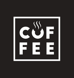 white icon on black background coffee sign vector image
