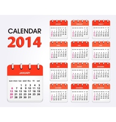 calendar 2014 new vector image