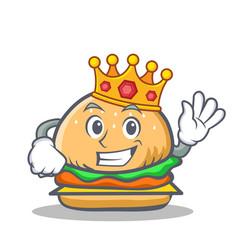 King burger character fast food vector