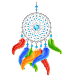 Colorful dream catcher vector