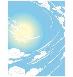 Windy sky vector