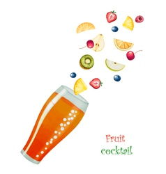 Fruit drink in glasses vector