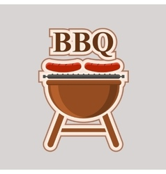 Barbecue party element poster vector