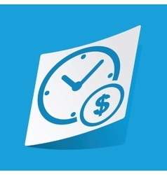 Time is money sticker vector