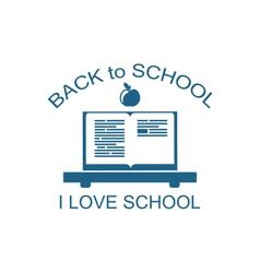 Back to school logo flat icon vector