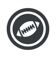Round black rugby sign vector