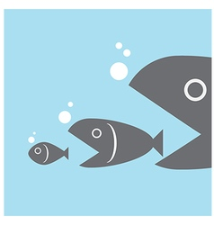 Big fish eat little fish vector