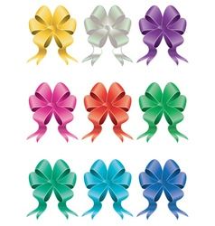 Holiday bows set2 vector