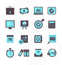 Finance Icons Collection vector image