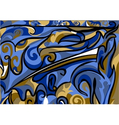 Abstract asymmetrical pattern vector