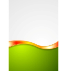 Abstract smooth bright wave background vector
