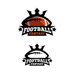 American football fantsy two options vector