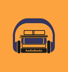 audiobooks logo vector image vector image