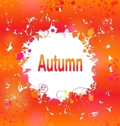 Autumn Grunge Background Abstract Decorative vector image vector image