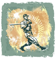 baseball classic abstract vector image vector image