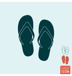 Beach slippers icon isolated vector image